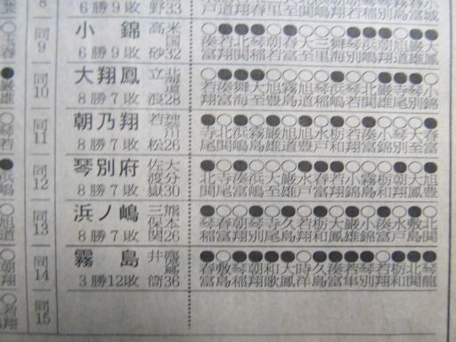 20130919・相撲18-10・幕内に上がったのは敷島だけ