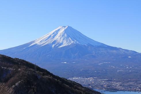 御坂峠と富士山-1