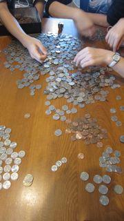 外貨コインの仕分け2