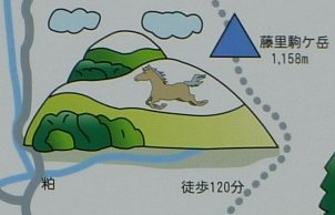 s白神山地イラストマップ