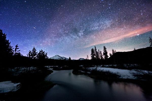 冬の景色と星空なimage