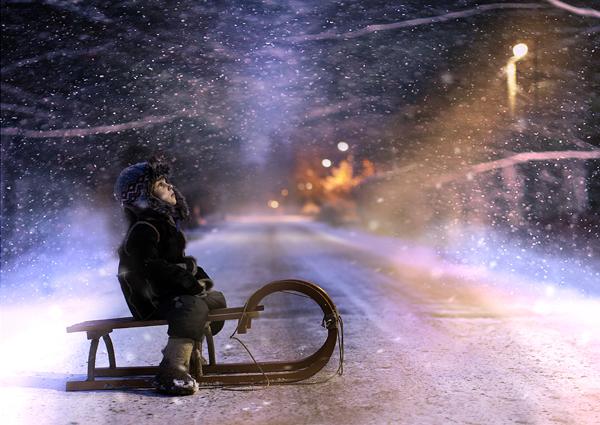 冬の情景と少年のimage
