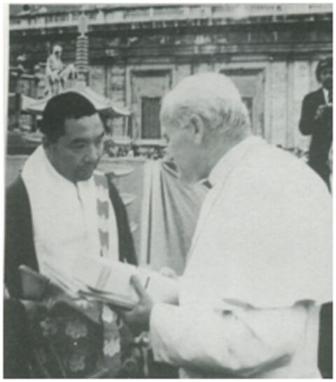 バチカン(ヨハネ・パウロ2世教皇と仲田師)image