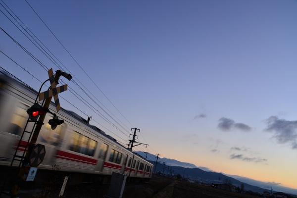 2013年12月25日 上田電鉄別所線 八木沢~舞田 1000系1004F