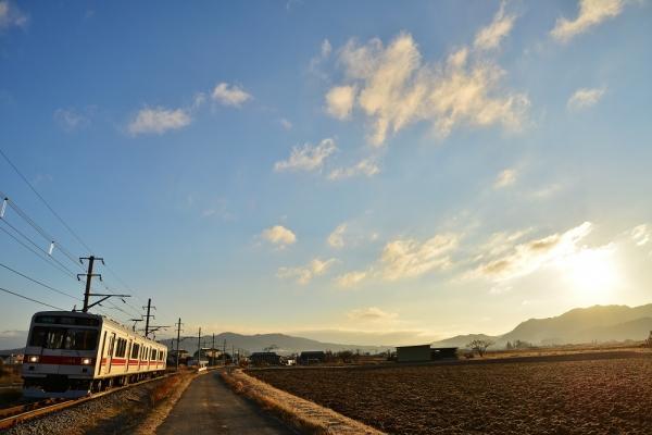 2013年12月25日 上田電鉄別所線 中野~舞田 1000系1004F