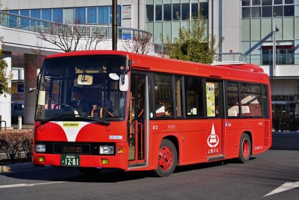 2013年12月25日 上田バス 上田駅 信州上田医療センター線 H-013号車