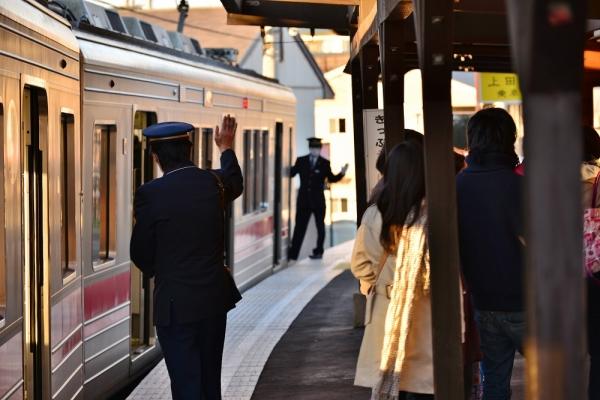 2014年1月2日 上田電鉄別所線 大学前 1000系1004F