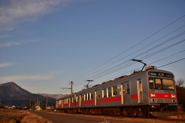 2014年1月3日 上田電鉄別所線 八木沢~舞田 1000系1001F