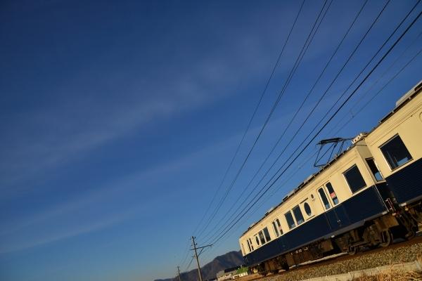 2014年1月7日 上田電鉄別所線 下之郷~大学前 7200系7255F