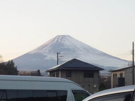 介護老人保険施設あいの郷から富士山写真画像