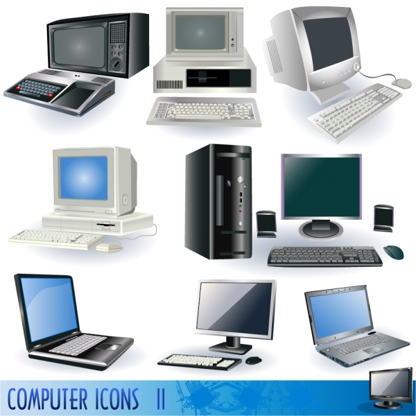 コンピュータとハードウェアのクリップアート computers and peripheral hardware