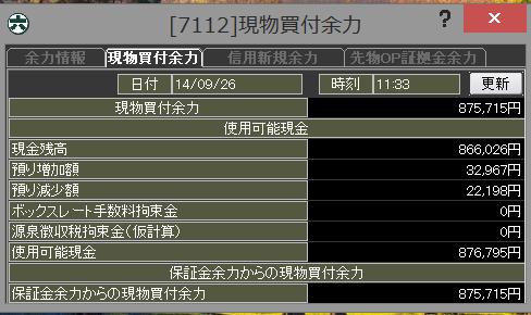 20140926_前場_口座残高