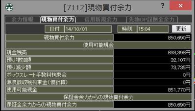 20141001_口座残高