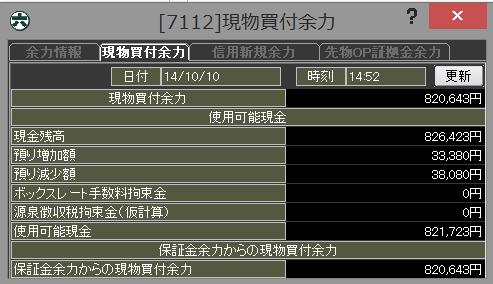 20141010_口座残高