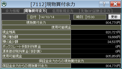 20141014_口座残高