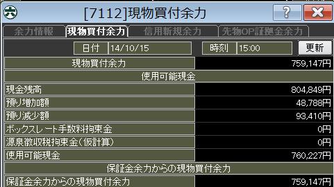 20141015_口座残高