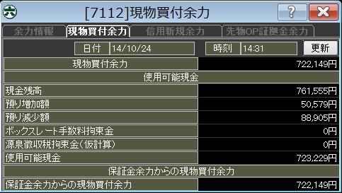 20141024_口座残高