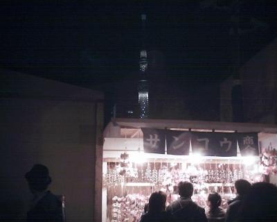 浅草寺羽子板市とスカイツリー:R2