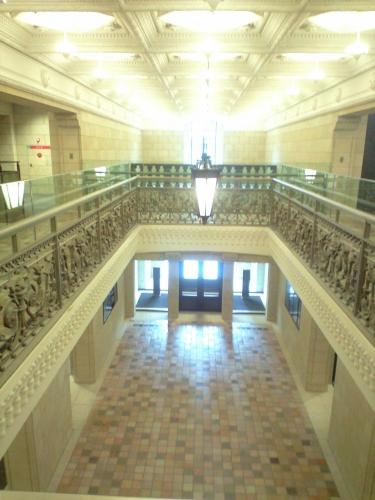 2階から・・・