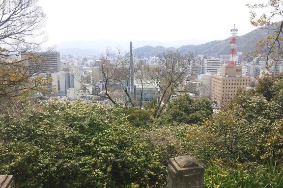 徳島城から眺望