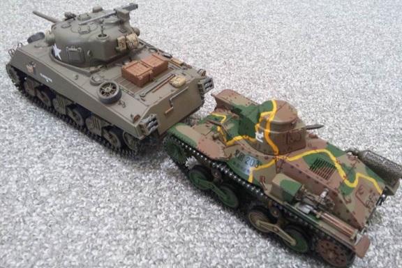 九五式軽戦車VSM4シャーマン