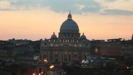 サンタンジェロ城夕景