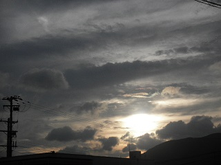 熊野の夕焼け。