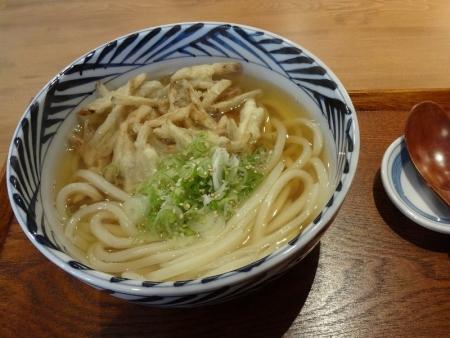 ごぼ天うどん(温) 580円