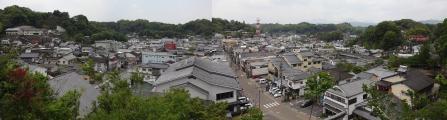 12:24 廣瀬神社からの、竹田の眺め
