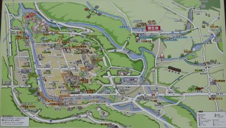 13:00 河宇田湧水の駐車場にあった 竹田観光マップ