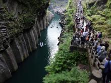 15:30 高千穂峡 ~ 真名井の滝側を背に進行方向を撮りました。