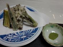 18:54 天ぷら 抹茶塩で