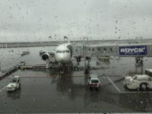 13:38 この飛行機に乗ってきました。