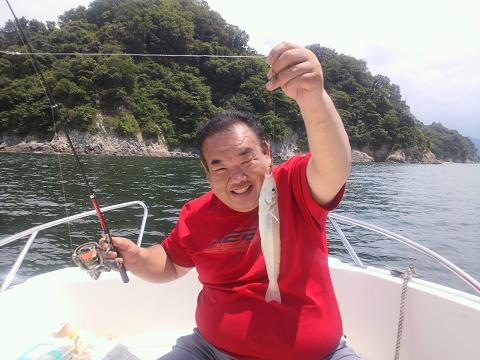 平成25年6月10日大島釣りキス25センチ