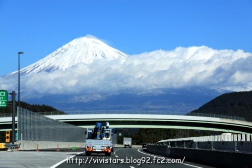 第二東名からの冬富士