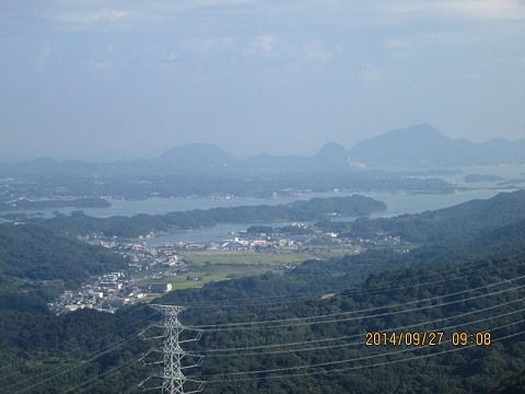 蕗岳より望む眺望(三角岳方面)