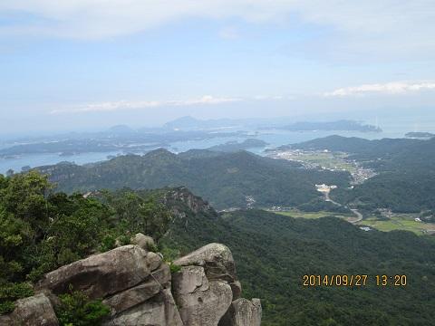 次郎丸嶽山頂からの眺望