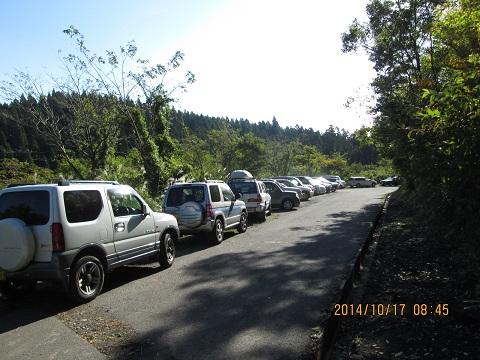 今水登山口の駐車場