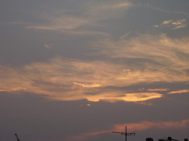真夏の夕焼け