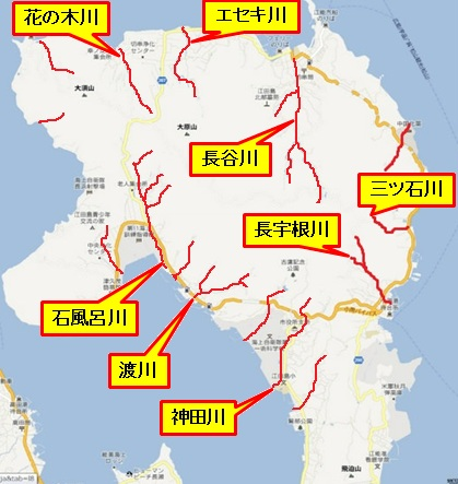 グーグル地図(北部江田島町)川名