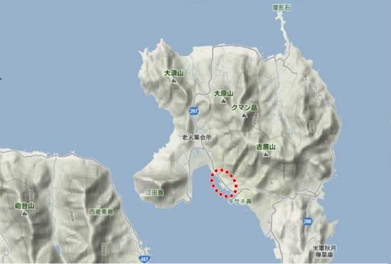 1)江田島町北部・宮ノ原漁港
