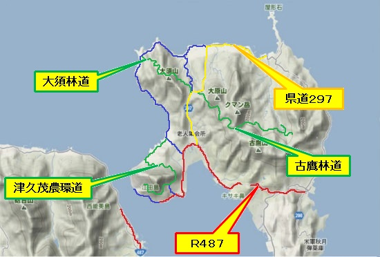 1)江田島町北部・宮ノ原R287