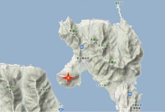1)江田島町北部・津久茂山(263,0m)
