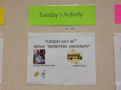 7/30 schedule