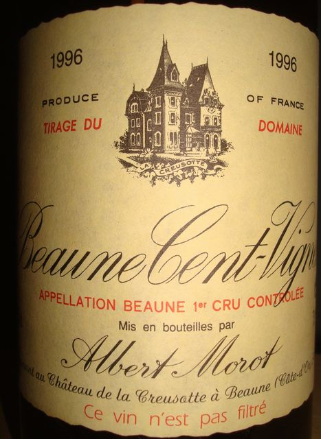 Beaune Cent Vigne Albert Morot 1996