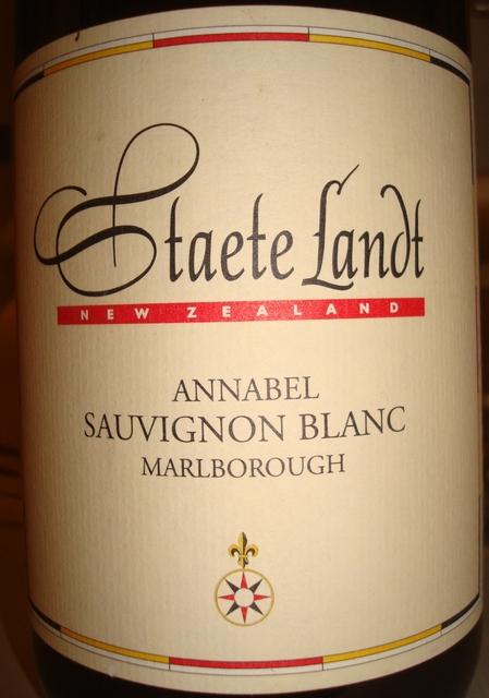 Staete Landt Annabel Sauvignon Blanc Marborough 2010