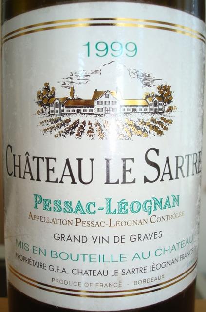 Chateau Le Sartre Blanc 1999