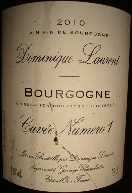 Bourgogne Cuvee Numero1 Dominique Laurent 2010