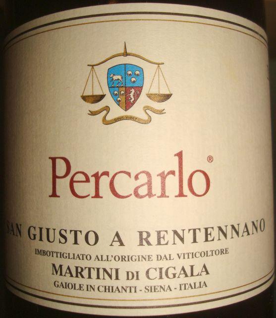 Percarlo San Giusto a Rentennano Martini Di Cigala 1999