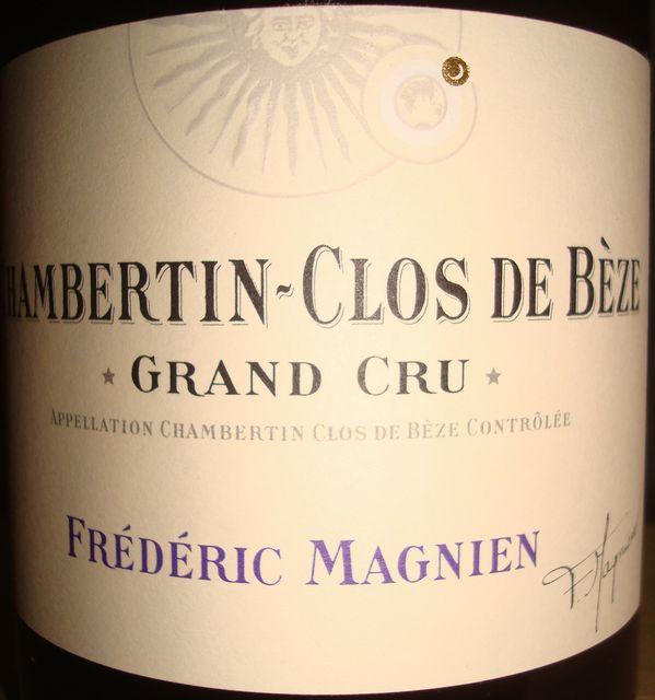 Chambertin Clos de Beze Frederic Magnien 2010